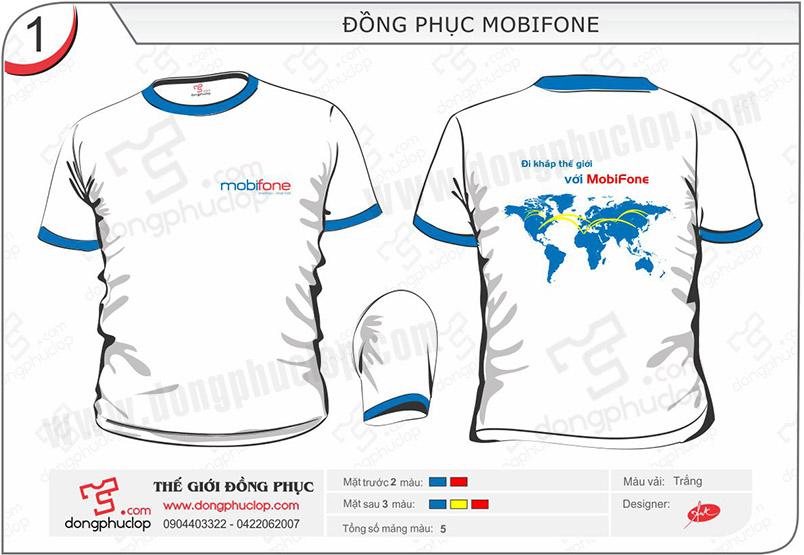 May áo đồng phục công ty Mobifone